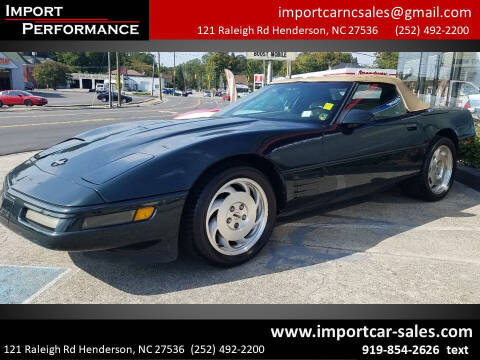 1994 Chevrolet Corvette for sale at Import Performance Sales - Henderson in Henderson NC