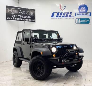 2014 Jeep Wrangler for sale at Elegant Auto Sales in Rancho Cordova CA