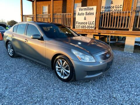 2007 Infiniti G35 for sale at Vermilion Auto Sales & Finance in Erath LA