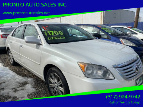 2010 Toyota Avalon for sale at PRONTO AUTO SALES INC in Indianapolis IN