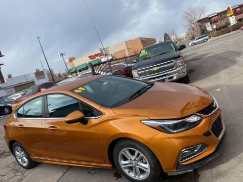 2017 Chevrolet Cruze for sale at Sanaa Auto Sales LLC in Denver CO