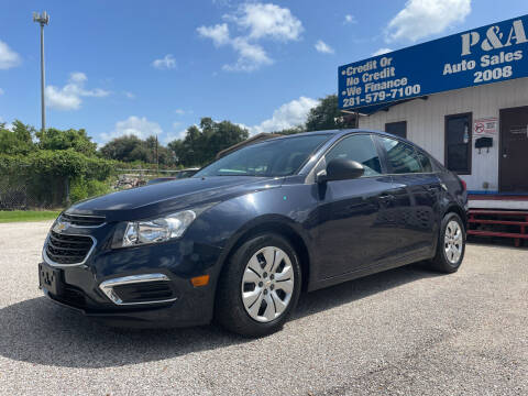 2016 Chevrolet Cruze Limited for sale at P & A AUTO SALES in Houston TX