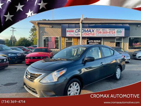 2016 Nissan Versa for sale at Cromax Automotive in Ann Arbor MI