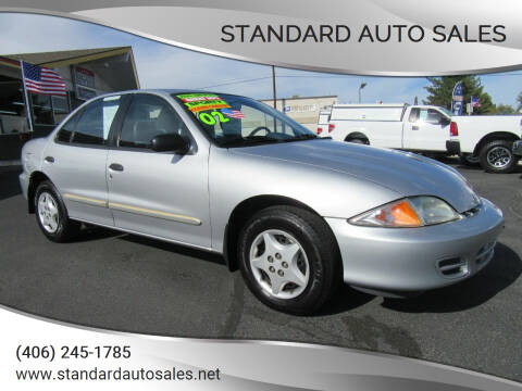 2002 Chevrolet Cavalier for sale at Standard Auto Sales in Billings MT