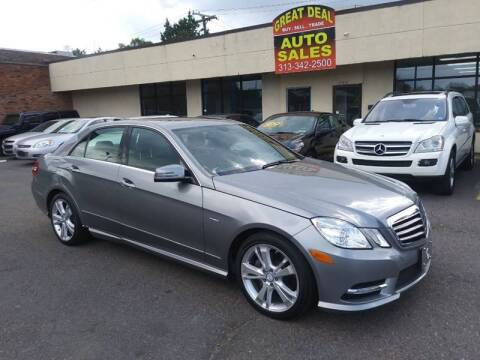 2012 Mercedes-Benz E-Class for sale at GREAT DEAL AUTO SALES in Center Line MI