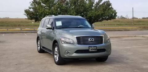2011 Infiniti QX56 for sale at America's Auto Financial in Houston TX