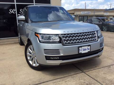 2016 Land Rover Range Rover for sale at SC SALES INC in Houston TX