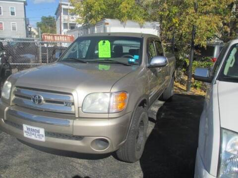 2004 Toyota Tundra for sale at MERROW WHOLESALE AUTO in Manchester NH