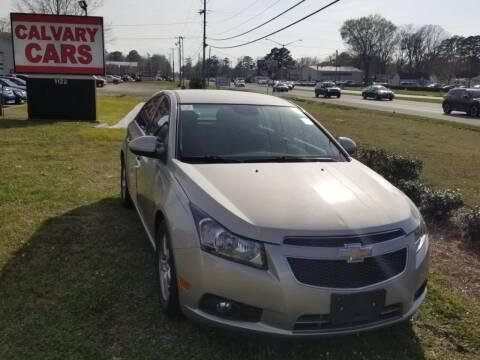 2013 Chevrolet Cruze for sale at Calvary Cars & Service Inc. in Norfolk VA