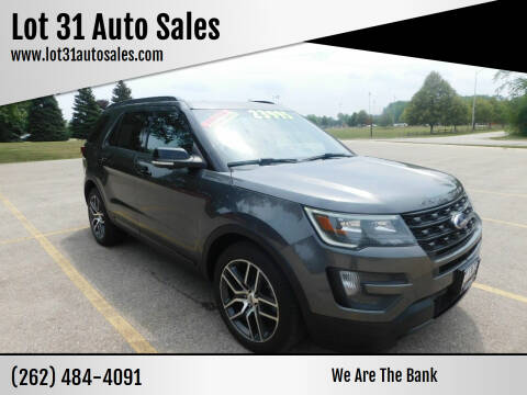 2016 Ford Explorer for sale at Lot 31 Auto Sales in Kenosha WI