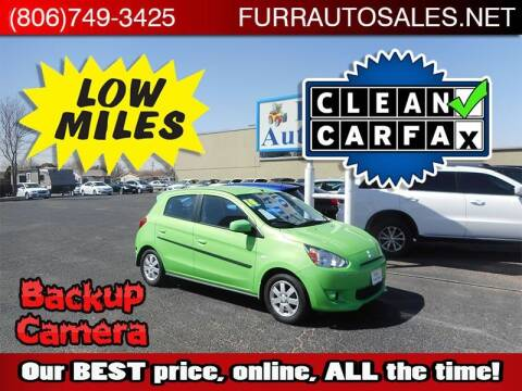 2014 Mitsubishi Mirage for sale at FURR AUTO SALES in Lubbock TX