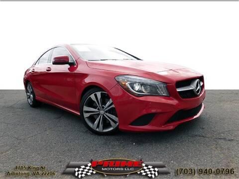 2014 Mercedes-Benz CLA for sale at PRIME MOTORS LLC in Arlington VA