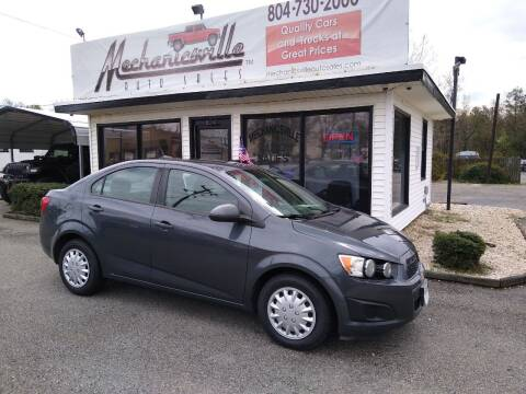 2013 Chevrolet Sonic for sale at Mechanicsville Auto Sales in Mechanicsville VA