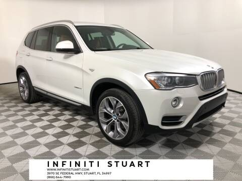 2017 BMW X3 for sale at Infiniti Stuart in Stuart FL