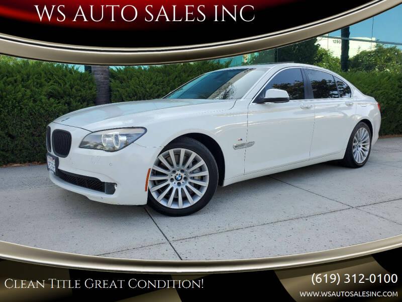 2012 BMW 7 Series for sale at WS AUTO SALES INC in El Cajon CA