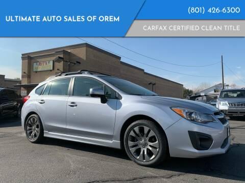 2014 Subaru Impreza for sale at Ultimate Auto Sales Of Orem in Orem UT