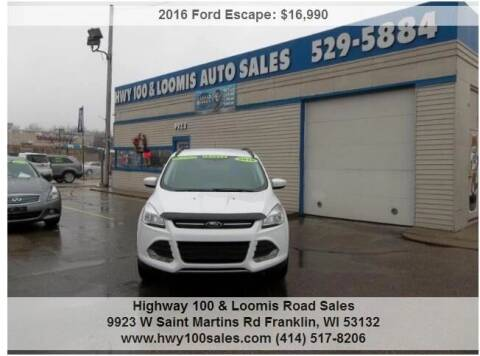 2016 Ford Escape for sale at Highway 100 & Loomis Road Sales in Franklin WI