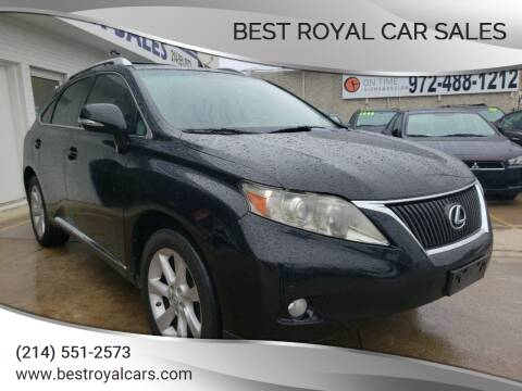 2012 Lexus RX 350 for sale at Best Royal Car Sales in Dallas TX