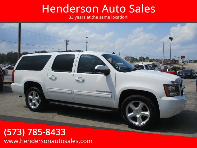 2012 Chevrolet Suburban for sale at Henderson Auto Sales in Poplar Bluff MO