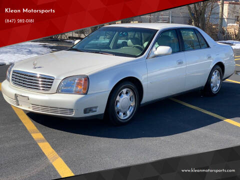 2000 Cadillac DeVille for sale at Klean Motorsports in Skokie IL