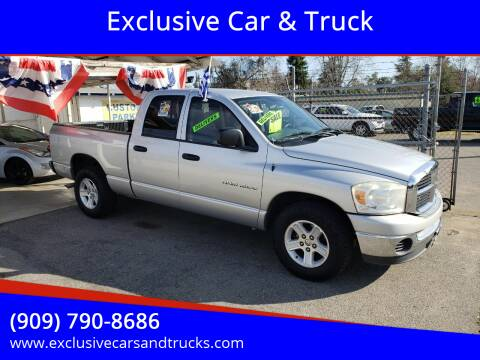 2007 Dodge Ram Pickup 1500 for sale at Exclusive Car & Truck in Yucaipa CA