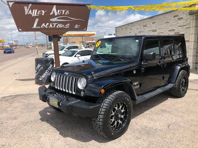 2017 Jeep Wrangler Unlimited for sale at Valley Auto Locators in Gering NE