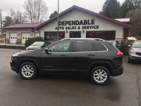 2015 Jeep Cherokee for sale at Dependable Auto Sales and Service in Binghamton NY