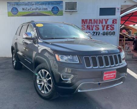 2014 Jeep Grand Cherokee for sale at Manny G Motors in San Antonio TX