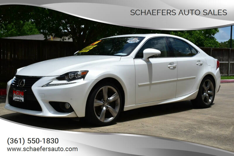 2014 Lexus IS 350 for sale at Schaefers Auto Sales in Victoria TX
