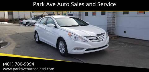 2013 Hyundai Sonata for sale at Park Ave Auto Sales and Service in Cranston RI