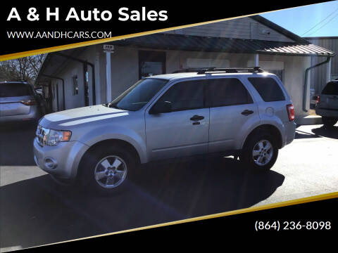 2012 Ford Escape for sale at A & H Auto Sales in Greenville SC