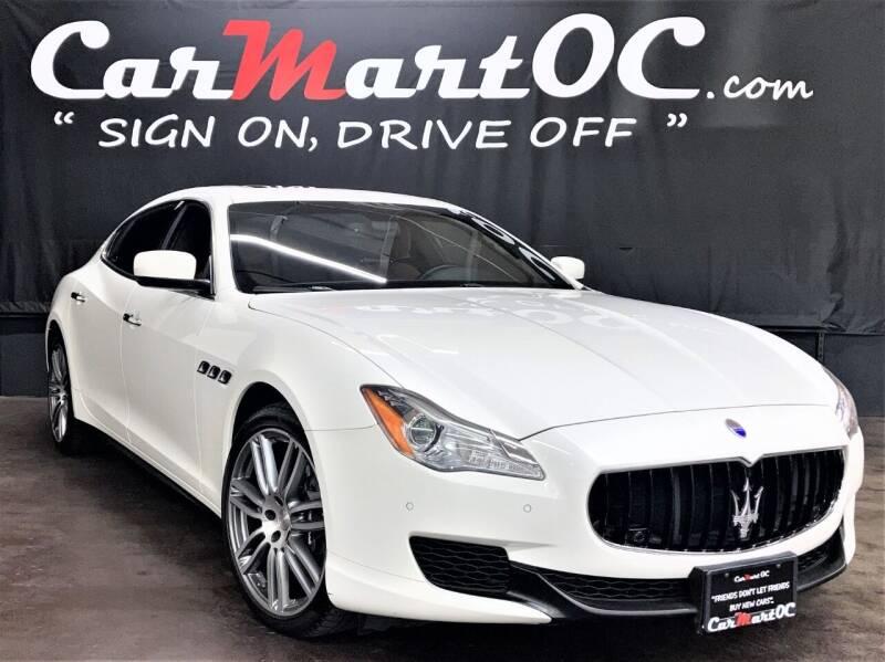 2016 Maserati Quattroporte for sale at CarMart OC in Costa Mesa CA