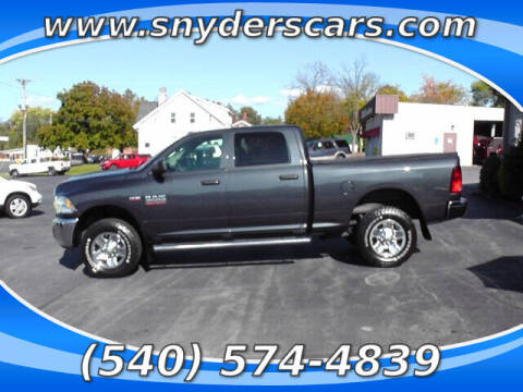 2014 RAM Ram Pickup 2500 for sale at Snyders Auto Sales in Harrisonburg VA