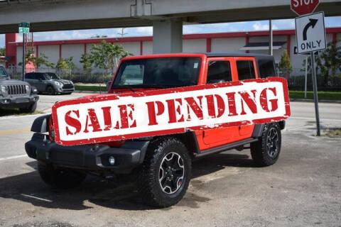 2017 Jeep Wrangler Unlimited for sale at ELITE MOTOR CARS OF MIAMI in Miami FL