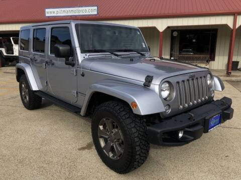 2018 Jeep Wrangler JK Unlimited for sale at PITTMAN MOTOR CO in Lindale TX