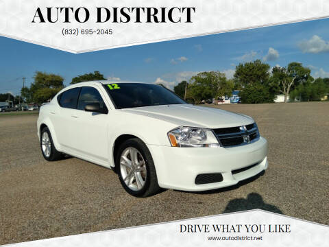 2012 Dodge Avenger for sale at Auto District in Baytown TX