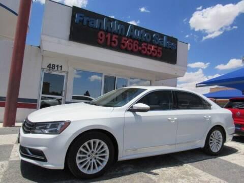 2017 Volkswagen Passat for sale at Franklin Auto Sales in El Paso TX