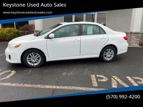 2011 Toyota Corolla for sale at Keystone Used Auto Sales in Brodheadsville PA