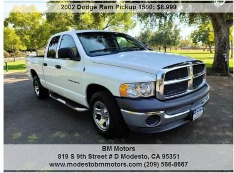 2002 Dodge Ram Pickup 1500 for sale at BM Motors in Modesto CA