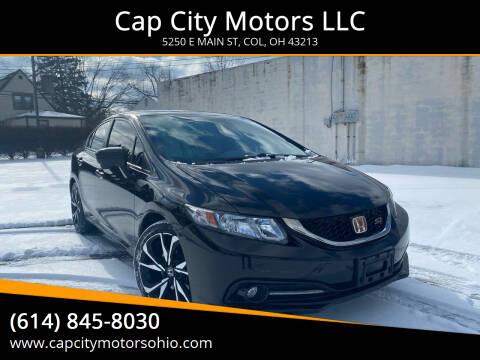 2015 Honda Civic for sale at Cap City Motors LLC in Columbus OH