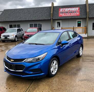 2016 Chevrolet Cruze for sale at Stephen Motor Sales LLC in Caldwell OH