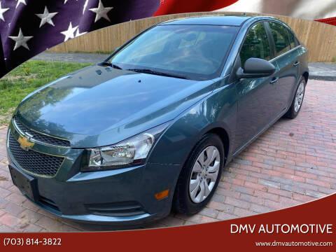 2012 Chevrolet Cruze for sale at DMV Automotive in Falls Church VA