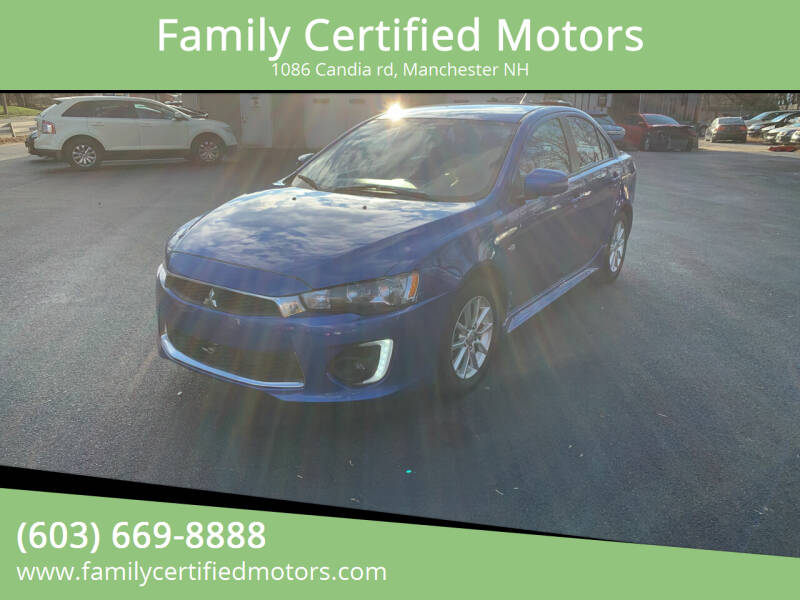 2016 Mitsubishi Lancer for sale at Family Certified Motors in Manchester NH