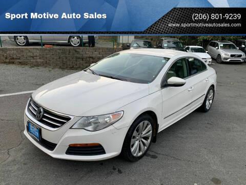 2011 Volkswagen CC for sale at Sport Motive Auto Sales in Seattle WA