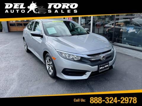 2016 Honda Civic for sale at DEL TORO AUTO SALES in Auburn WA