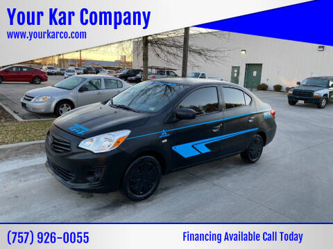 2018 Mitsubishi Mirage G4 for sale at Your Kar Company in Norfolk VA