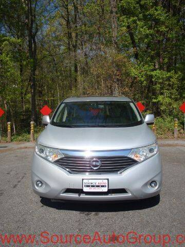 2012 Nissan Quest for sale at Source Auto Group in Lanham MD