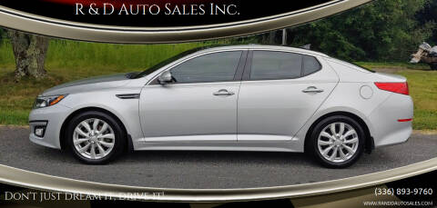2015 Kia Optima for sale at R & D Auto Sales Inc. in Lexington NC