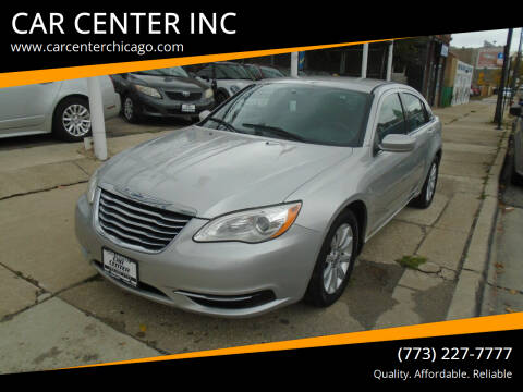 2012 Chrysler 200 for sale at CAR CENTER INC in Chicago IL