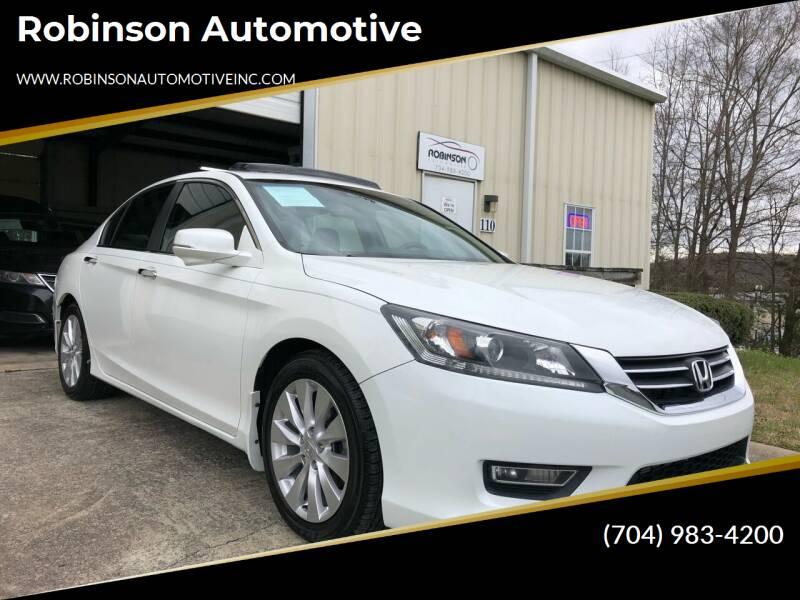 2013 Honda Accord for sale at Robinson Automotive in Albemarle NC